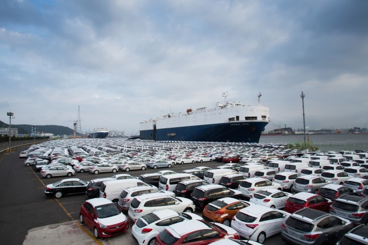 Vehicle exports for the first half of year currently reflects a massive decline