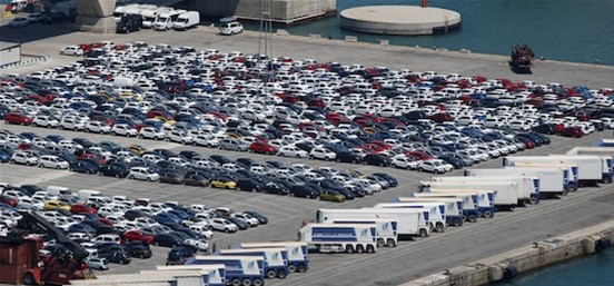 Vehicle export numbers recovered to some extent, although it's still way off from 2019's numbers