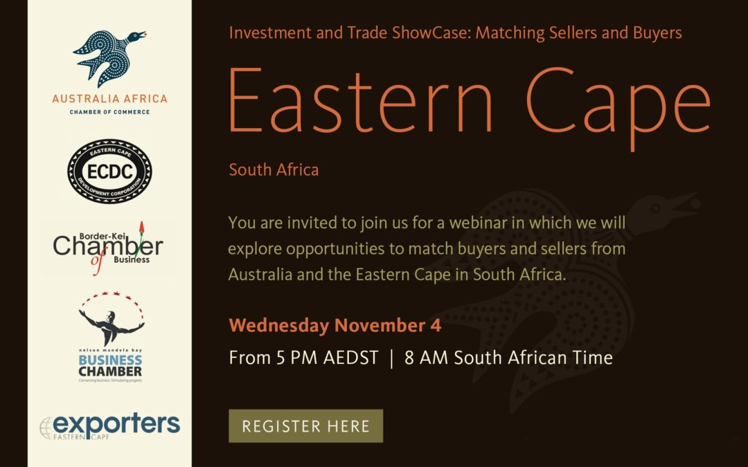 'Buyers meeting Sellers' Virtual Event – Eastern Cape, South Africa and Australia